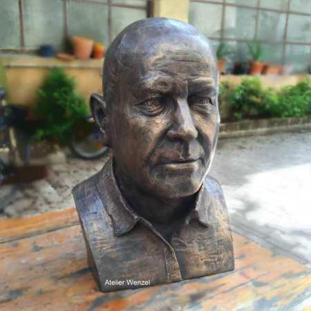 Bildhauerbüste Bronze